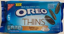 NEW NABISCO OREO THINS LATTE CREME FLAVORED CRISPY SANDWICH COOKIES 10.1 OZ PACK