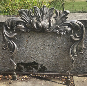 Victorian Cast White Metal Fire Surround. Arcanthus Scroll. Ribbon Legs