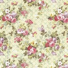 Dollhouse Miniature Computer Printed Floral Fabric Shabby Chic 13