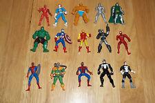 Lot of (15) Marvel Metal Mini Figures - Capt. America, Iron Man, Spider-Man +