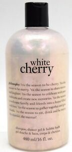 NEW SEALED 16 OZ Philosophy WHITE CHERRY 🍒 SHAMPOO SHOWER BATH GEL *SHELFWARE*