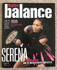 Serena Williams HyVee Balance Magazine March 2018 Tennis Brand New Diet Fitness