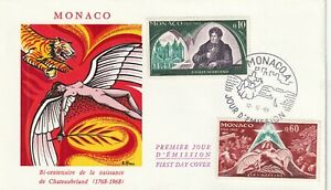 Monaco first day cover 1968,Tiger, Angel,