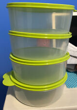 NEW TUPPERWARE SET OF 4 CLEAR BIG WONDERS LARGE STACKING BOWL SET 3 CUP 700mL