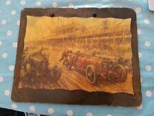 Flint Cottage Decopage slate picture French Grand Prix 1924 Gordon Crosby