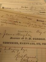 Vintage Invoices And Receipts 1884