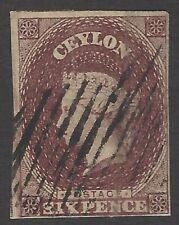 Ceylon SG 6a Scott #7 used
