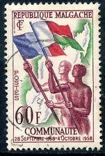TIMBRE DE MADAGASCAR N°340 OBLITERE COMMUNAUTE MALGACHE 28/09/58 AU 04/10/58