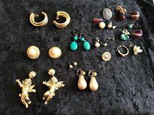 Selection of Vintage Costume Jewellery Earrings
