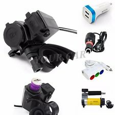 12V 2.1A Electronic USB Charger Fast Charging For Motorcycle Cruiser Handle Bar