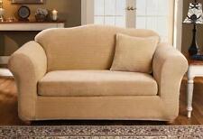 Sofa Antique Gold Sure fit surefit Stretch Royal Diamond two Piece Slipcover