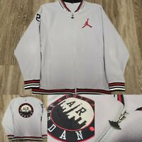 Nike Air Jordan Full Zip Fleece Gray Jacket 23 Chicago Patch Men's Large