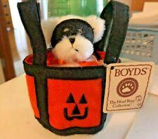 Boyds Bear-Lil Boos-Halloween Dog w Mask in Trick or Treat Bag-Nwt-2005-Retired