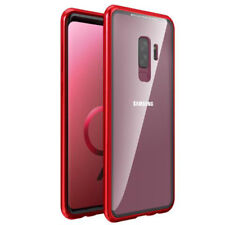 For Galaxy S9 Plus Case Tech™ Magnetic Metal Frame Tempered Glass Back Cover S9+