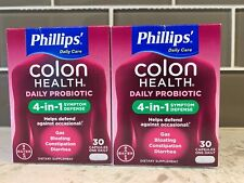 Phillips Colon Health Daily Probiotic 4-in-1 60 Capsules One Daily  Exp. 05/2020