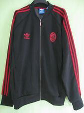 Veste Milan Ac Adidas Calcio Noire et rouge Football Vintage Jacket - XL