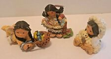 Enesco Friends Of The Feather Lot of 3 Girls by Karen Hahn