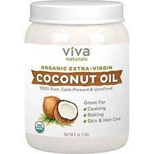 Treatment Oils Viva Naturals Organic Extra Virgin Coconut Oil, 54 Ounce