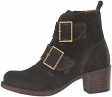 New Frye Sabrina Double Buckle Suede Women's Fatigue Boots Size US 7 M