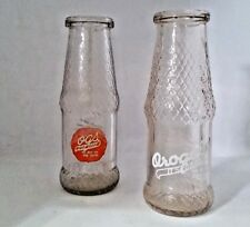 vintage OGS  and Orogold soda bottles set of  2 Juice 1946 flower vase soda pop