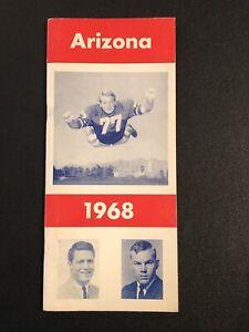1968 ARIZONA WILDCATS NCAA FOOTBALL MEDIA GUIDE;