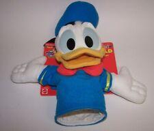 "Mickeys Stuff Donald Duck 11"" Plush Hand Puppet Mattel New on Card"