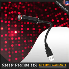 USB Car Interior Red Dot Roof Atmosphere Starry Sky LED Light Mini Projection