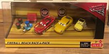 DISNEY Cars 3 Palla di Fuoco Beach RACE 4-Pack-SANDY Cruz Ramirez, Saetta McQueen