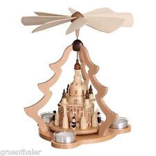 Pyramide Dresdener Frauenkirche Kurrende Teelicht  Zeidler Erzgebirge Seiffen