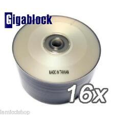 100pk SILVER INKJET Full face HUB PRINTABLE DVD-R 16x
