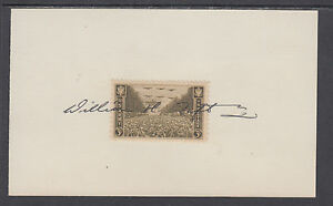 William H. Taft IV, US Deputy Secretary of Defense, signed US Army stamp on card