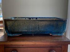 Blue/Gold Glazed Antique Nakawatari Era Bonsai Tree Pot 120+ Years Old