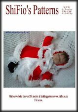 KNITTING PATTERN BABY XMAS MATINEE JACKET & HAT & BOOTIES SET #31 NOT CLOTHES