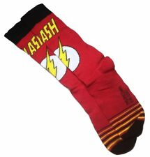 The Flash Logo with Shield Red Crew Socks