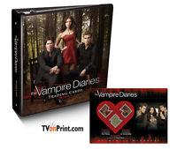 Vampire Diaries Season 2 Trading Cards Binder + Costume Card Ian Somerhalder