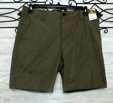 Men's Wrangler Bermuda Shorts Green Cotton NEW