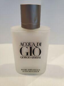 Acqua di Gio for Men by Giorgio Armani 3.4 oz After Shave Balm~ New/No Box~