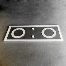 Verre de rechange 6561 Wofi Mira 2 FLG verre transparent satiné carré Flat Glass