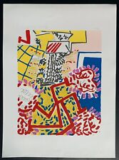 New York School Artist Knox Martin Signed Serigraph. Floral Abstract 249/300