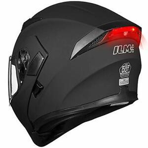 Casco modular cara completa con visera doble para motocicleta, aprobado por DOT