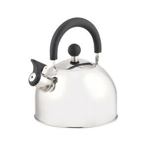 Edelstahl Flötenkessel Wasserkessel Wasserkocher Teekessel Pfeife Induktion 1,5L