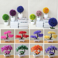 Multi-Color Artificial Tree Plant Fake Bonsai Flower Home Garden Decoration