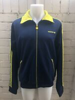 Adidas Jacket Size L Men's TRACK TOP Blue / Yellow Retro