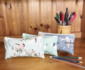 Hand Made Oilcloth Purses Pencil Cases Makeup Bags Glasses Cases Bird Patterns
