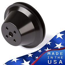 Black Billet Aluminum Ford Water Pump Pulley V-Belt 302 351W 351C 351M 400 SBF