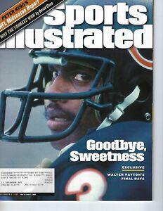 1999 11/8 Sports Illustrated magazine football Walter Payton, Chicago Bears VG
