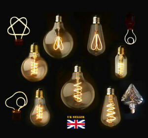 Dimmable E27/B22 Retro Vintage Flexible LED Edison Spiral Filament Light Bulb