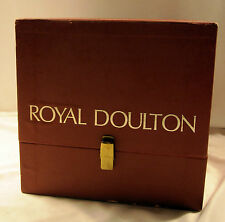 Vintage Royal Doulton Red Padded Box w/Clasp for Lady Figurine