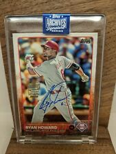 Ryan Howard 2020 Topps Signature Series 1/1 2015 Topps Auto Phillies