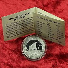 10 EURO MALTA SILBER SILVER MÜNZE COIN PHOENICIANS SCHIFF 2011 PP PROOF